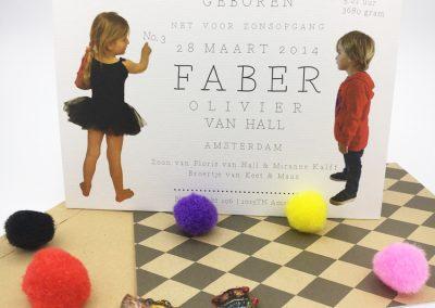 Geboortekaartje Faber