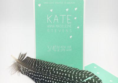 Geboortekaartje Kate