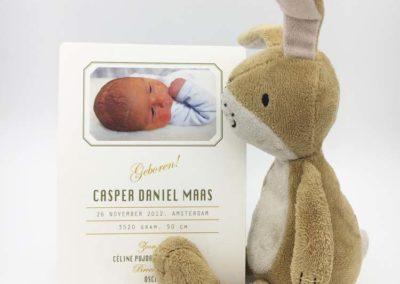 Geboortekaartje Casper